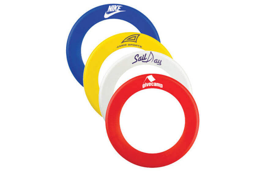 ring frisbees met logo