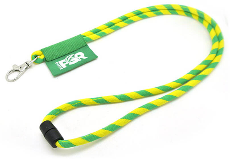 bedrukte ronde keycords met label
