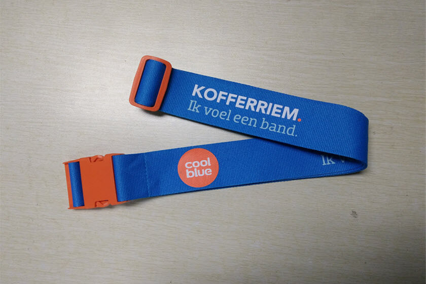 kofferriemen buckle bedrukken