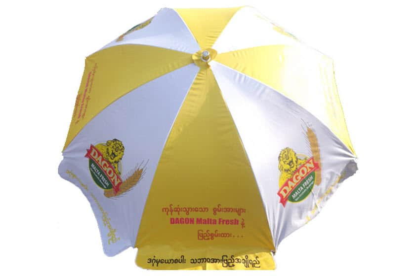 strandparasols met logo full-colour