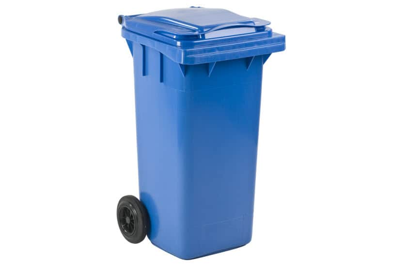 mini container 120ltr blauw