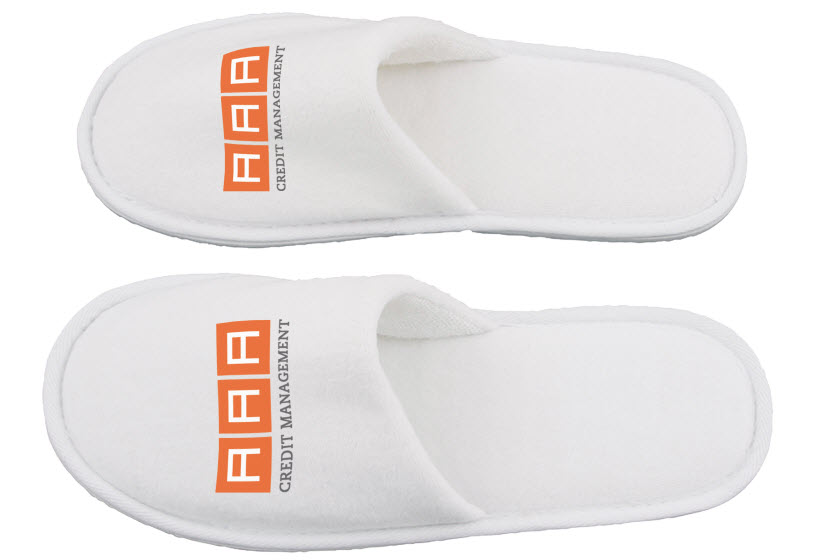 Witte slippers