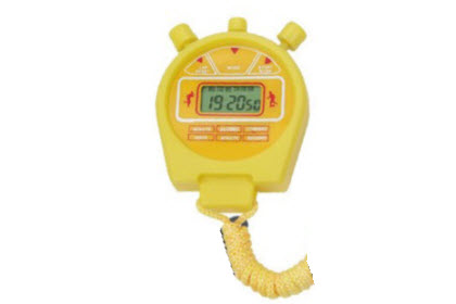Gele retro stopwatch