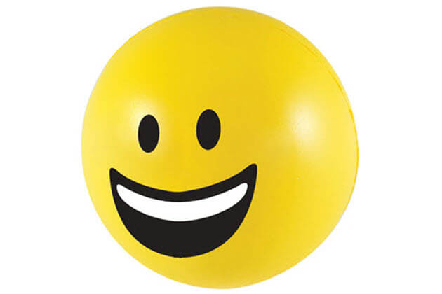 smiley stressbal emoji